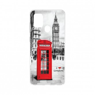 Coque Samsung Galaxy A21s souple I love London Crazy Kase