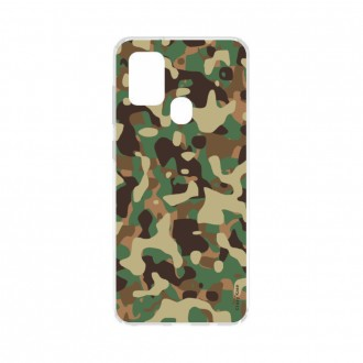 Coque Samsung Galaxy A21s souple Camouflage militaire Crazy Kase