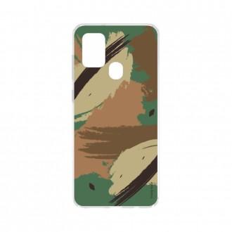 Coque Samsung Galaxy A21s souple Camouflage Crazy Kase