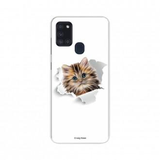 Coque Samsung Galaxy A21s souple Chat mignon Crazy Kase