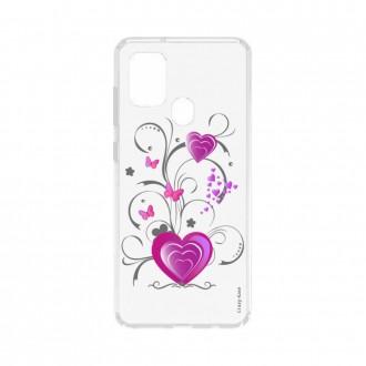 Coque Samsung Galaxy A21s souple Coeur et papillon Crazy Kase