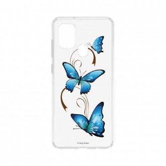 Coque Samsung Galaxy A21s souple Papillon sur arabesque Crazy Kase