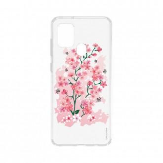 Coque Samsung Galaxy A21s souple Fleurs de Cerisier Crazy Kase