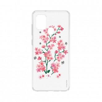 Coque Samsung Galaxy A21s souple Fleurs de Sakura Crazy Kase