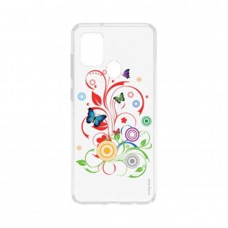 Coque Samsung Galaxy A21s souple Papillons et Cercles Crazy Kase