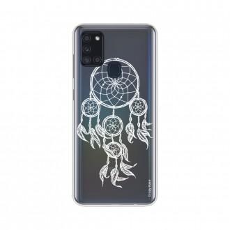 Coque Samsung Galaxy A21s souple Attrape rêves blanc Crazy Kase