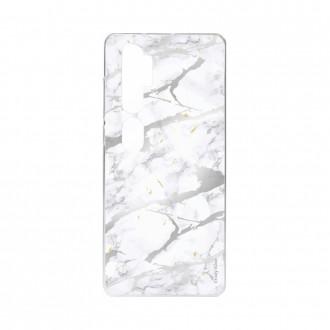 Coque pour Xiaomi Mi Note 10 souple effet Marbre gris Crazy Kase