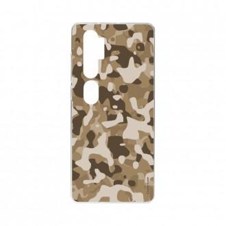 Coque pour Xiaomi Mi Note 10 souple Camouflage militaire désert Crazy Kase