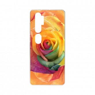 Coque pour Xiaomi Mi Note 10 souple Rose fleur colorée Crazy Kase