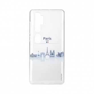Coque pour Xiaomi Mi Note 10 souple Monuments de Paris Crazy Kase
