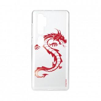 Coque pour Xiaomi Mi Note 10 souple Dragon rouge Crazy Kase