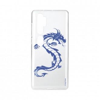 Coque pour Xiaomi Mi Note 10 souple Dragon bleu Crazy Kase
