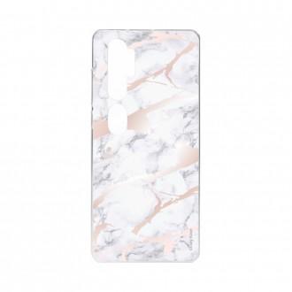 Coque pour Xiaomi Mi Note 10 souple effet Marbre rose Crazy Kase