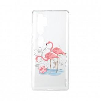 Coque pour Xiaomi Mi Note 10 souple Flamant rose Crazy Kase