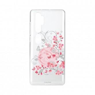 Coque pour Xiaomi Mi Note 10 souple Fleur et papillon Crazy Kase