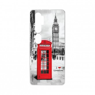 Coque pour Xiaomi Mi Note 10 souple I love London Crazy Kase