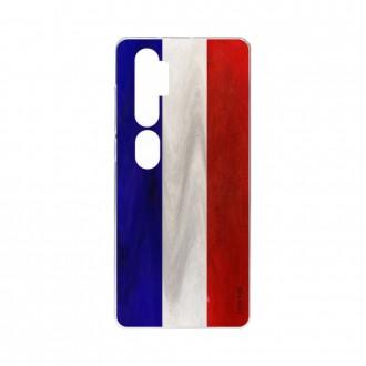 Coque pour Xiaomi Mi Note 10 souple Drapeau Français Crazy Kase
