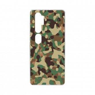 Coque pour Xiaomi Mi Note 10 souple Camouflage militaire Crazy Kase