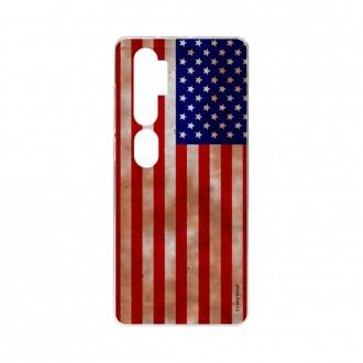 Coque pour Xiaomi Mi Note 10 souple Drapeau USA Crazy Kase