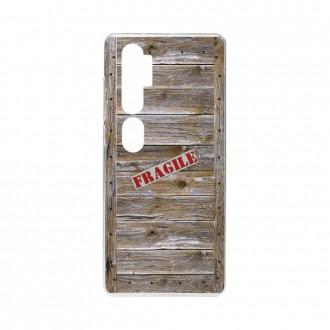 Coque pour Xiaomi Mi Note 10 souple Caisse en bois Crazy Kase