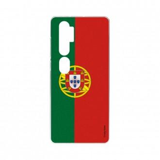 Coque pour Xiaomi Mi Note 10 souple Drapeau Portugais Crazy Kase