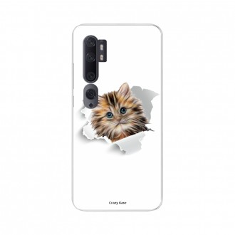 Coque pour Xiaomi Mi Note 10 souple Chat mignon Crazy Kase