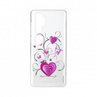 Coque pour Xiaomi Mi Note 10 souple Coeur et papillon Crazy Kase