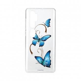 Coque pour Xiaomi Mi Note 10 souple Papillon sur arabesque Crazy Kase