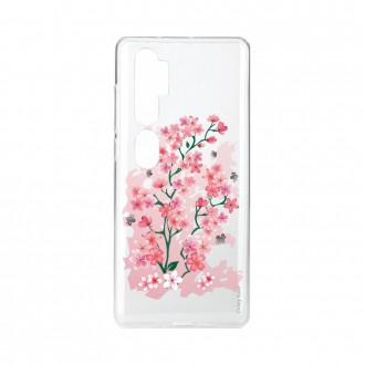Coque pour Xiaomi Mi Note 10 souple Fleurs de Cerisier Crazy Kase