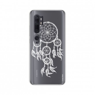 Coque pour Xiaomi Mi Note 10 souple Attrape rêves blanc Crazy Kase