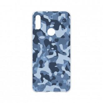 Coque pour Huawei Y6s souple Camouflage militaire bleu Crazy Kase