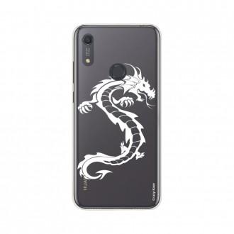 Coque pour Huawei Y6s souple Dragon blanc Crazy Kase