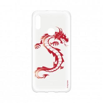 Coque pour Huawei Y6s souple Dragon rouge Crazy Kase