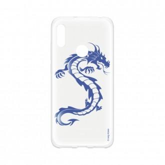 Coque pour Huawei Y6s souple Dragon bleu Crazy Kase