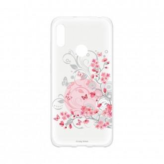 Coque Huawei Y6s souple Fleur et papillon Crazy Kase
