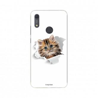Coque Huawei Y6s souple Chat mignon Crazy Kase