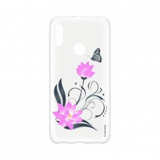 Coque Huawei Y6s souple Fleur de lotus et papillon Crazy Kase