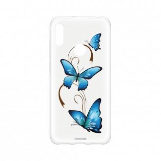 Coque Huawei Y6s souple Papillon sur arabesque Crazy Kase