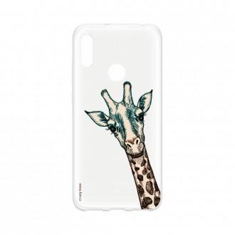 Coque Huawei Y6s souple Tête de Girafe Crazy Kase