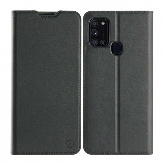 Muvit Etui Samsung Galaxy A21s Folio Stand Noir