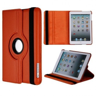 Etui iPad mini 1/2/3 orange rotative 360 degrés