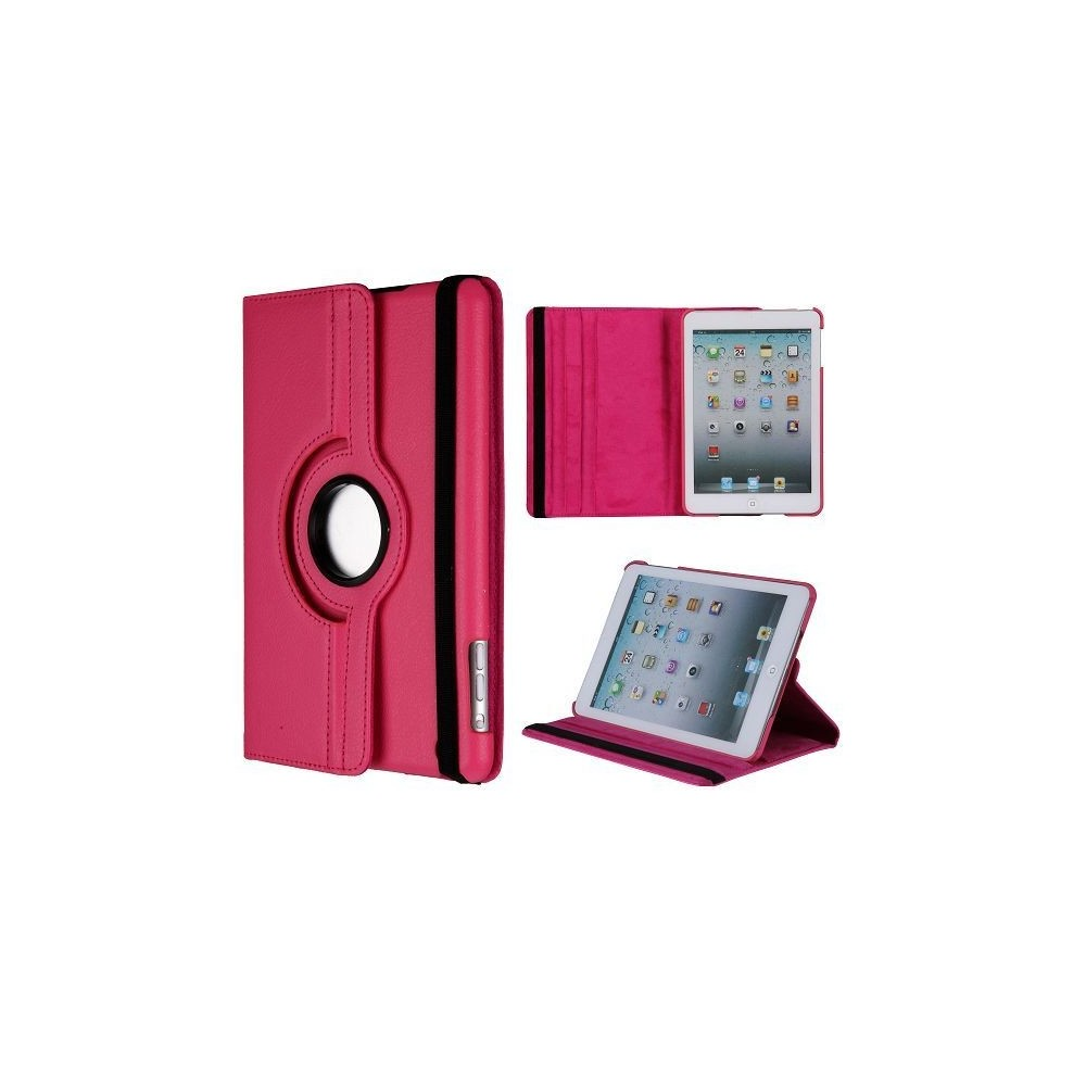 Etui iPad mini 1/2/3 rose rotative 360 degrés