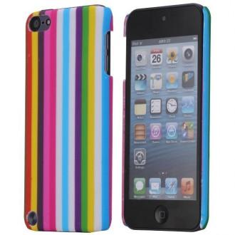 Coque plastique motif rayures multicolores pour Apple iPod Touch 5