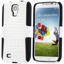 Coque bi-matière plastique et silicone blanche pour Samsung Galaxy S4 i9500