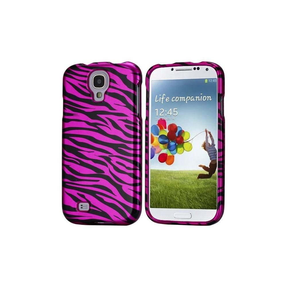 Coque avant-arrière motif zébré violet pour Samsung Galaxy S4 i9500