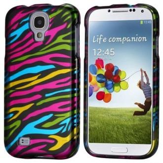 Coque avant-arrière motif zébré multicolores pour Samsung Galaxy S4 i9500