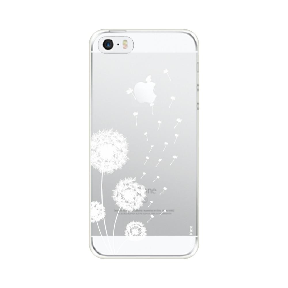 Coque pour iPhone SE (2016) / 5S / 5 souple Fleurs de pissenlit