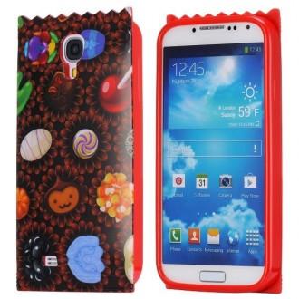 Coque flexible gel motif friandises pour Samsung Galaxy S4 i9500