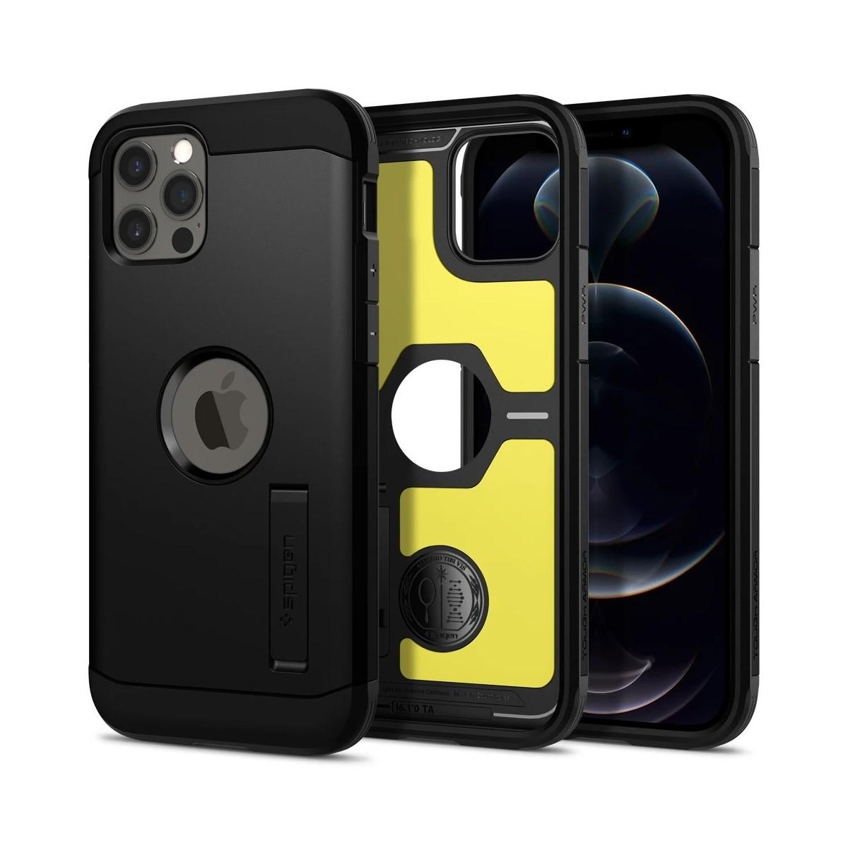 Spigen Coque pour Apple iPhone 12 / iPhone 12 Pro (6,1) Tough Armor Noir