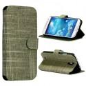 Etui simili-cuir vert avec support TV et porte carte pour Samsung Galaxy S4 i9500